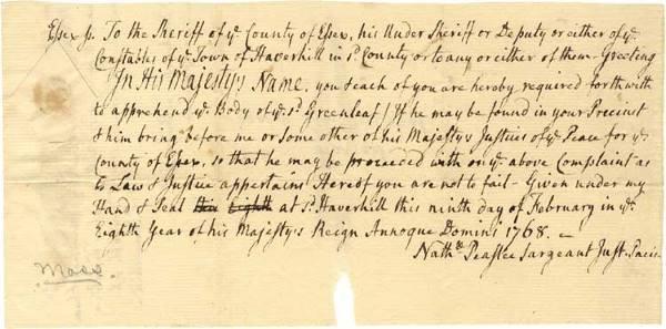 524: Colonial Arrest Warrant