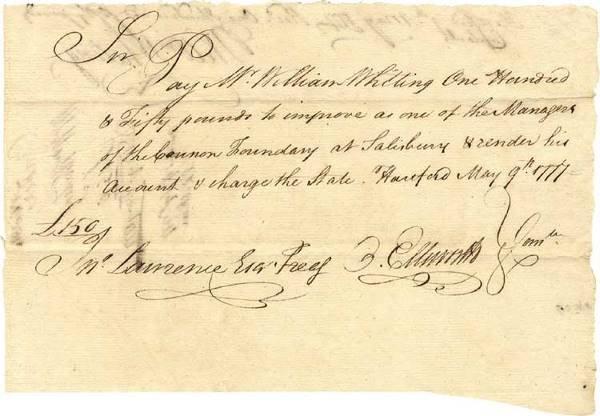 525: War Date Document Signed by Oliver Ellsworth