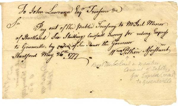 527: Colonel William Pitken War Date Document Signed