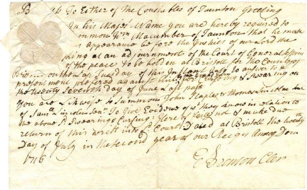 1: 1716 Swearing Complaint