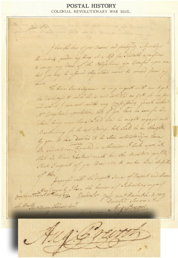 9: Revolutionary War British General's Letter