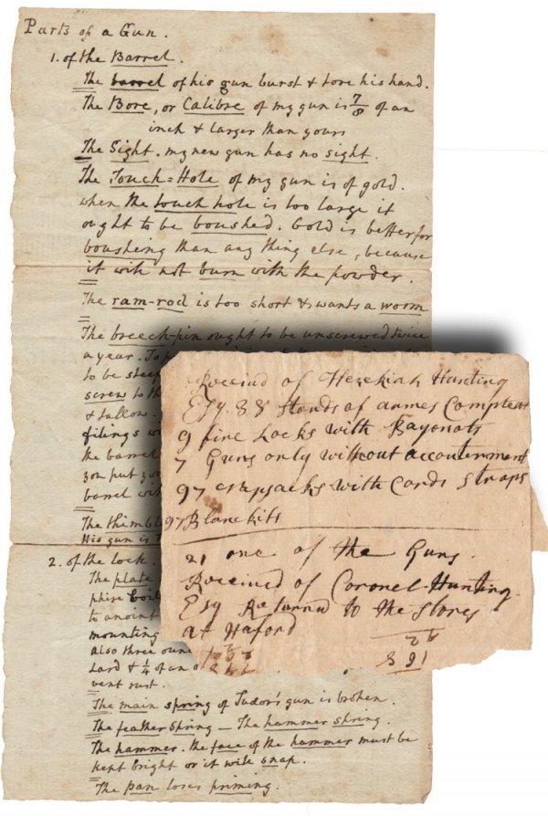 12: A Very Rare Flintlock Gun Terminology Document & Re