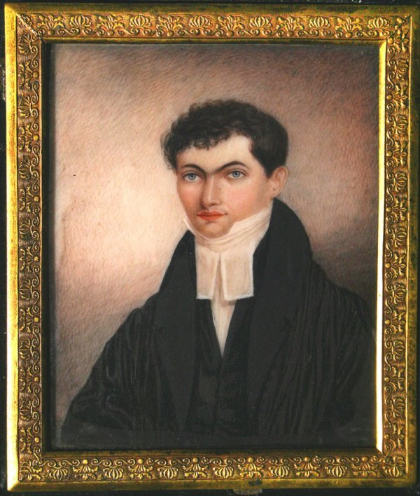 31: MINIATURE PORTRAIT ON IVORY OF THE FIRST AMERICAN B