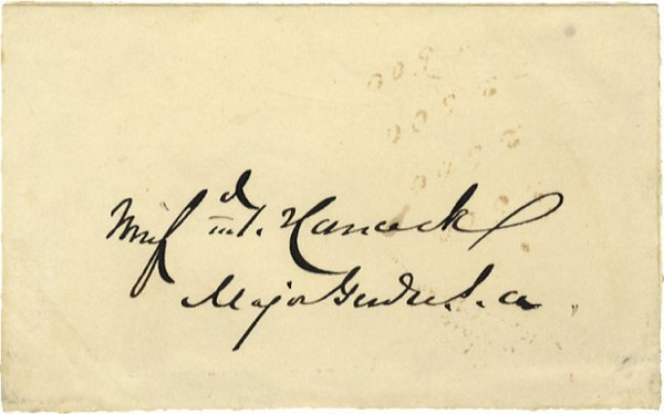 511: Major General Winfield Scott Hancock Signature