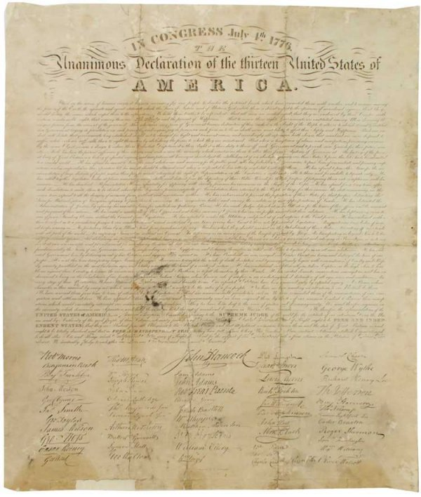 2: A Rare Printing of the Declaration of Independence