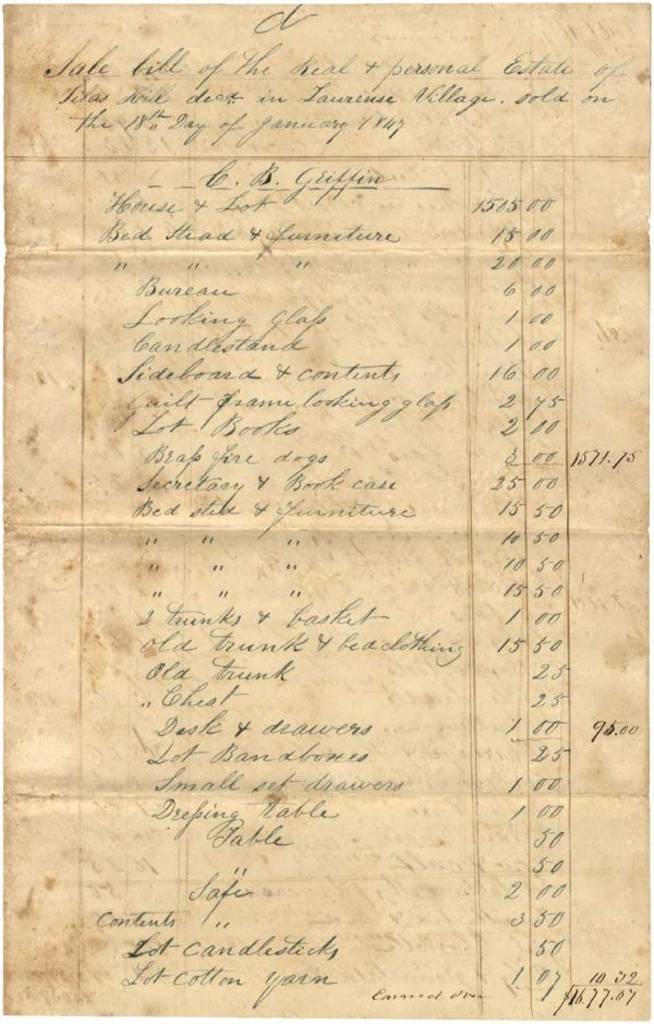 22: Unusual South Carolina Slave Bill of Sale Records t