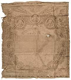 Textile Printing of the Declaration of Independence