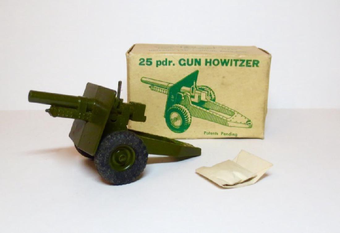 Britains 25 pdr. Gun Howitzer Rubber Tyres #2026