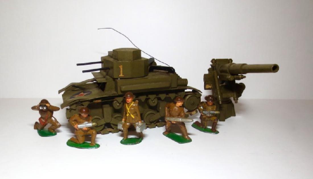 Dimestore Assortment with Wooden Tank & Gun