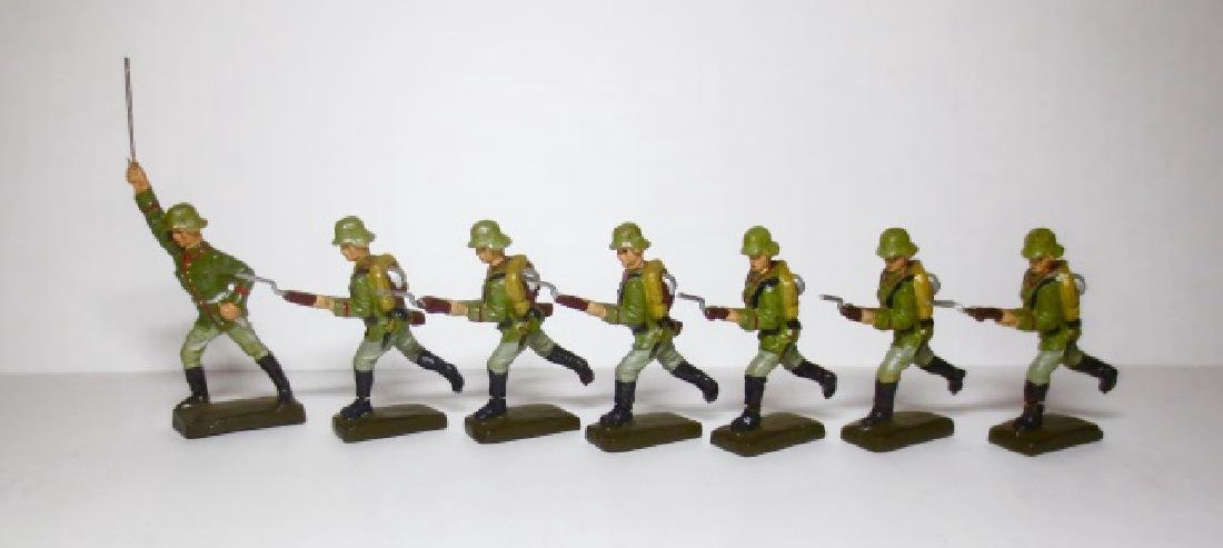 Lineol Composition WW2 German Infantry Charging