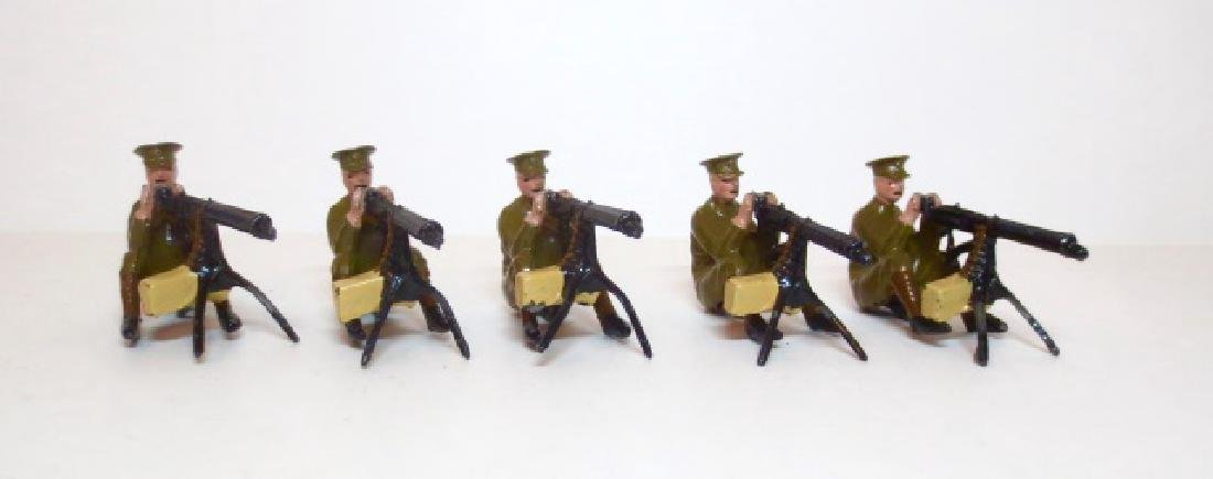 Britains Seated Machine Gunners Section Set #198