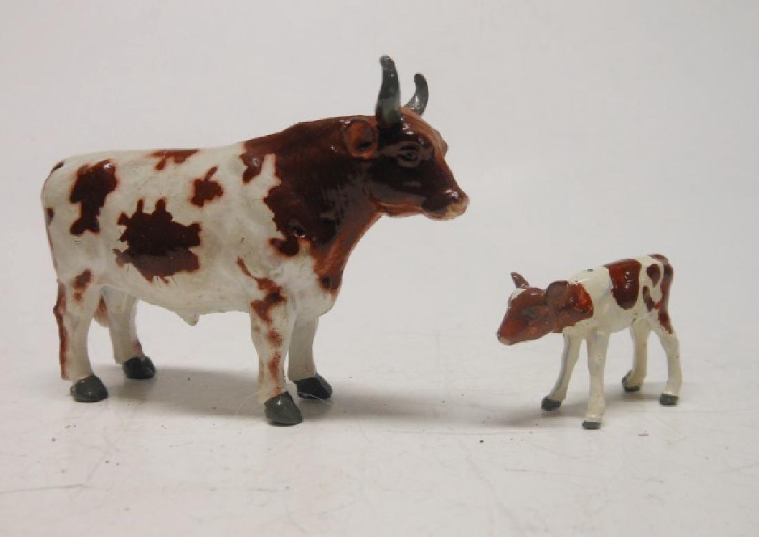 Britains Ayrshire Bull and Calf Post War