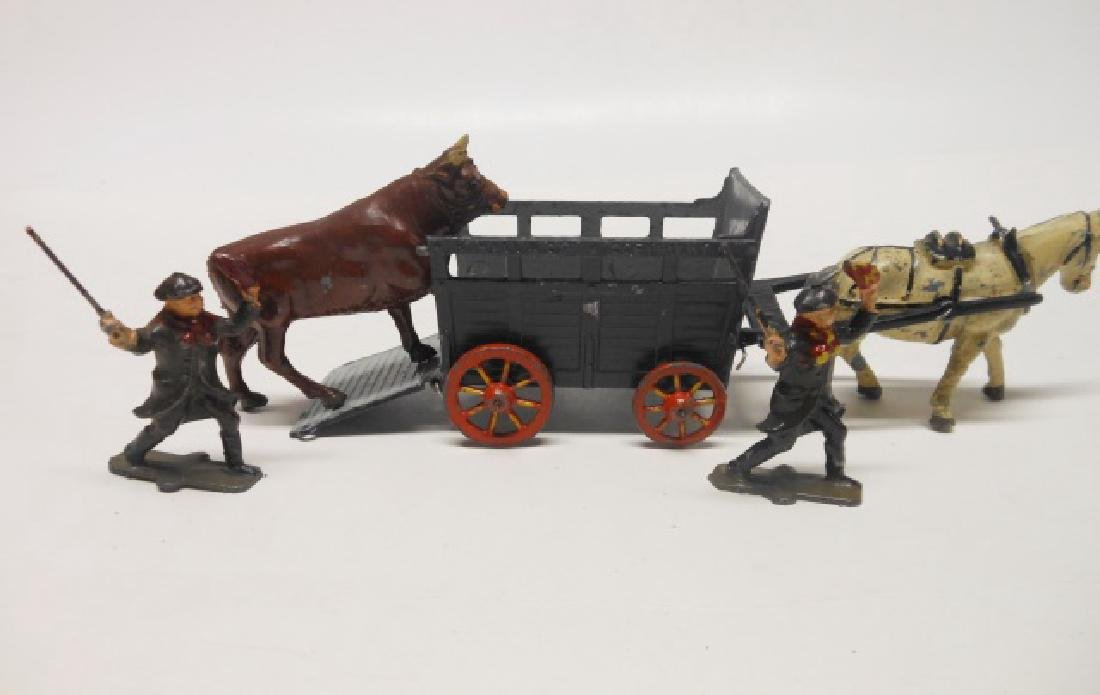 Johillco Bullock Cart, Bull and Drovers Pre War