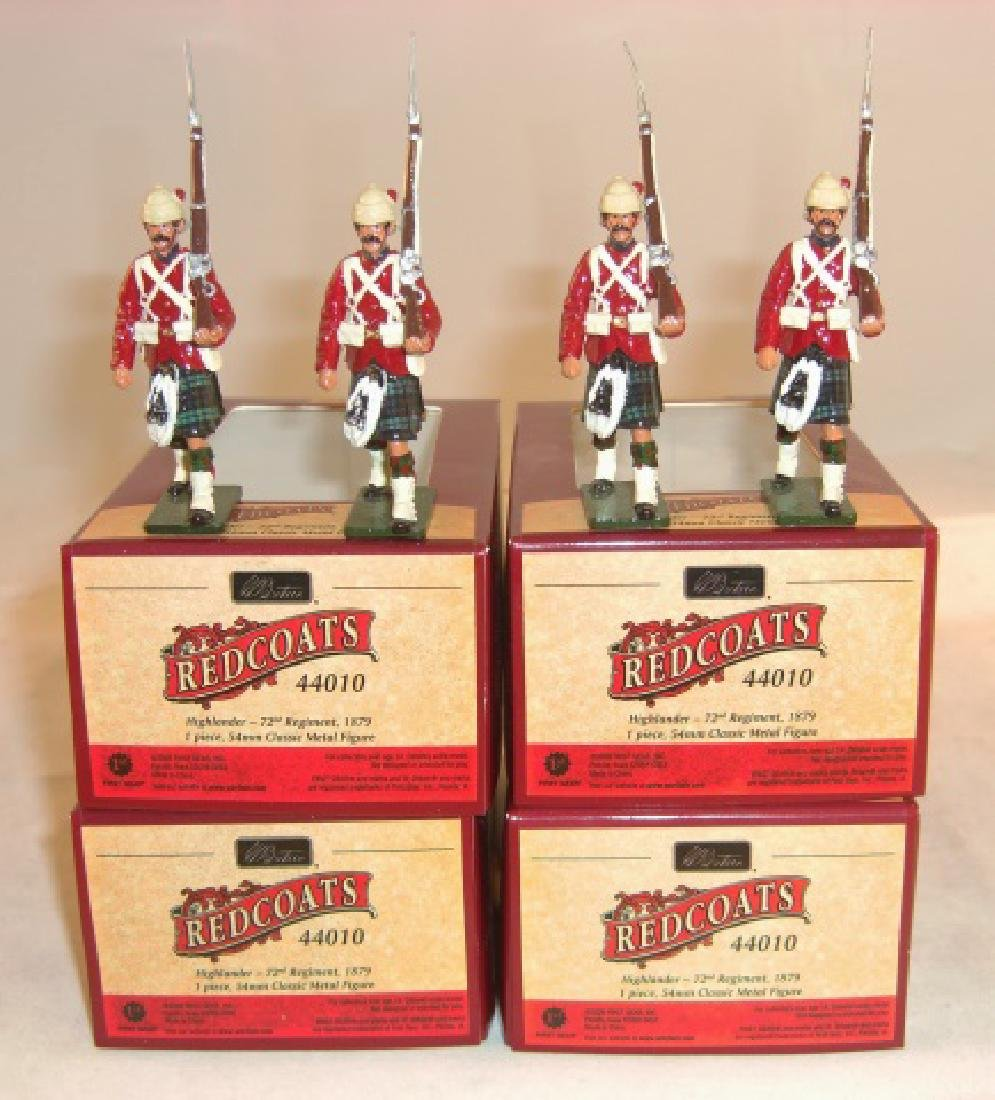 Britains Redcoats 4 x #44010 Highlander