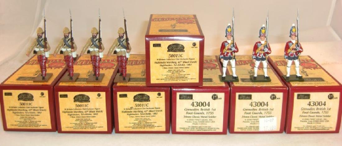 Britains Redcoats 4 x #50011c Highlander Marching