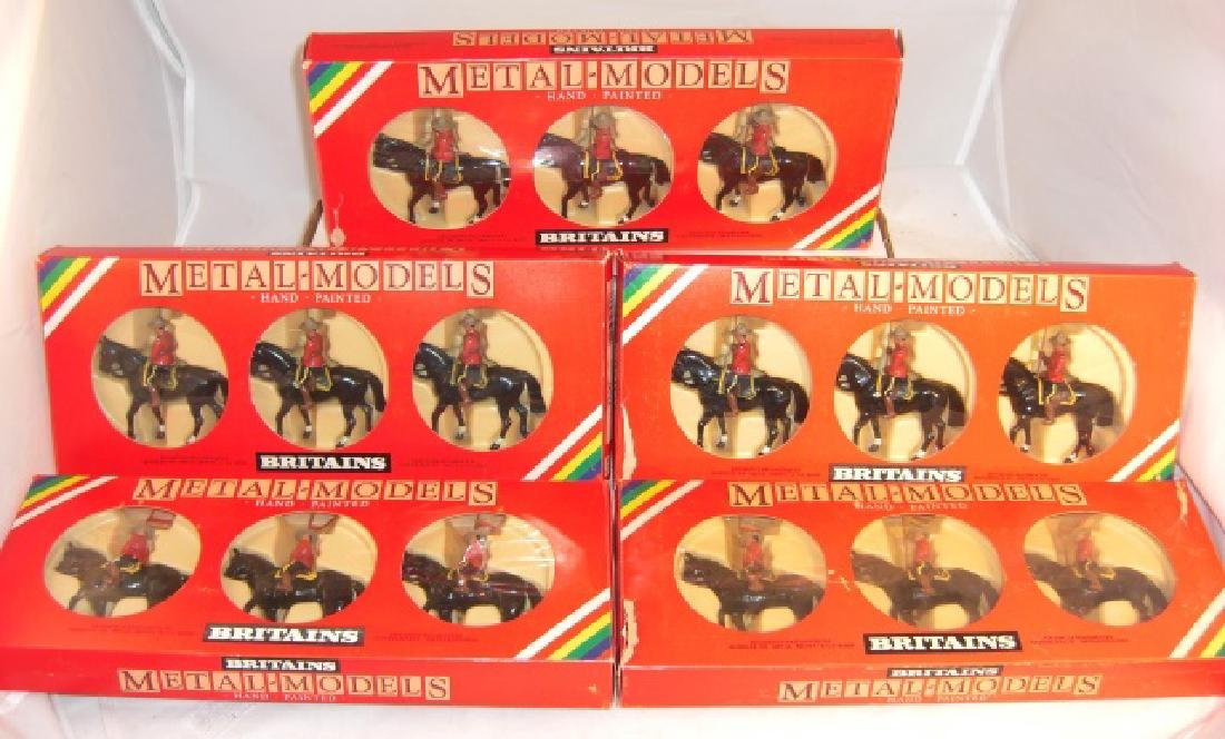 Britains Metal - Models 5 x #7236 Canadian Mounted