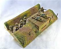 Czech Made Bunker and 8 US Soldiers 6.5 cm