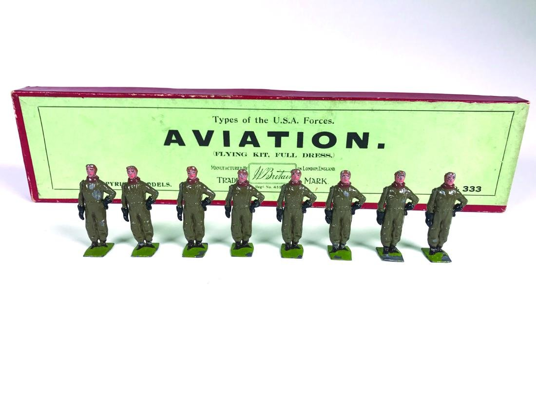 Britains Set #333 USA Aviators in Sidcot Suits