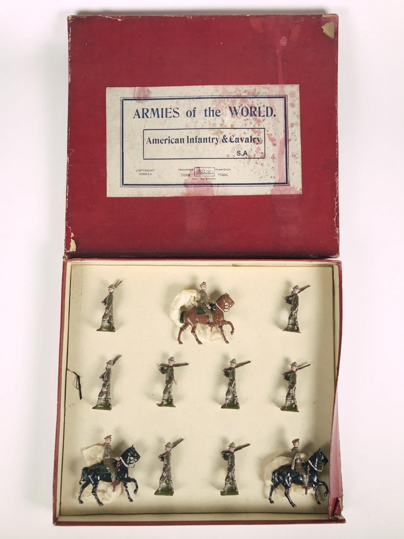 Britains S. A. Set American Infantry & Cavalry