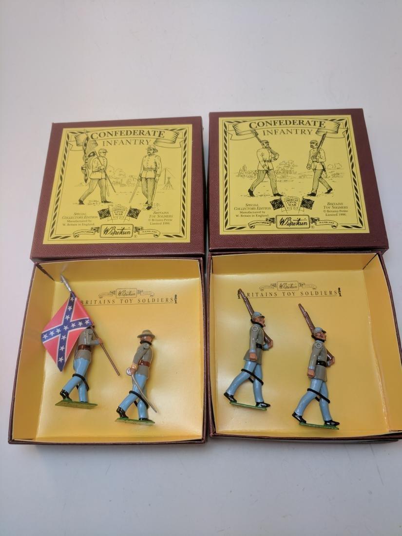 Britains 8879, 8881 Confederate Infantry