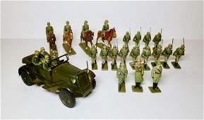Lineol WW2 German Army with Marklin Jeep