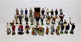 Various Makers Composition Railway Figures
