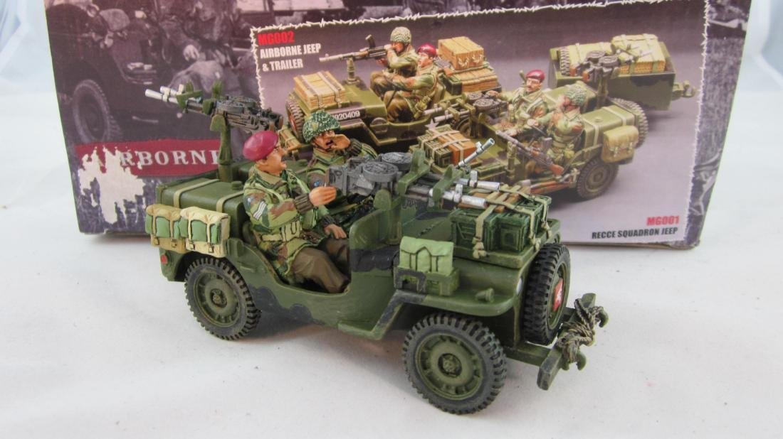 King & Country #MG01 Airborne Jeep & Figures