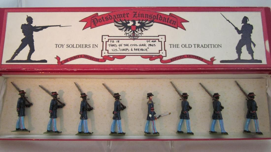"""Potsdamer Zinnsoldaten U.S. """"Corp de Afrique"""""""