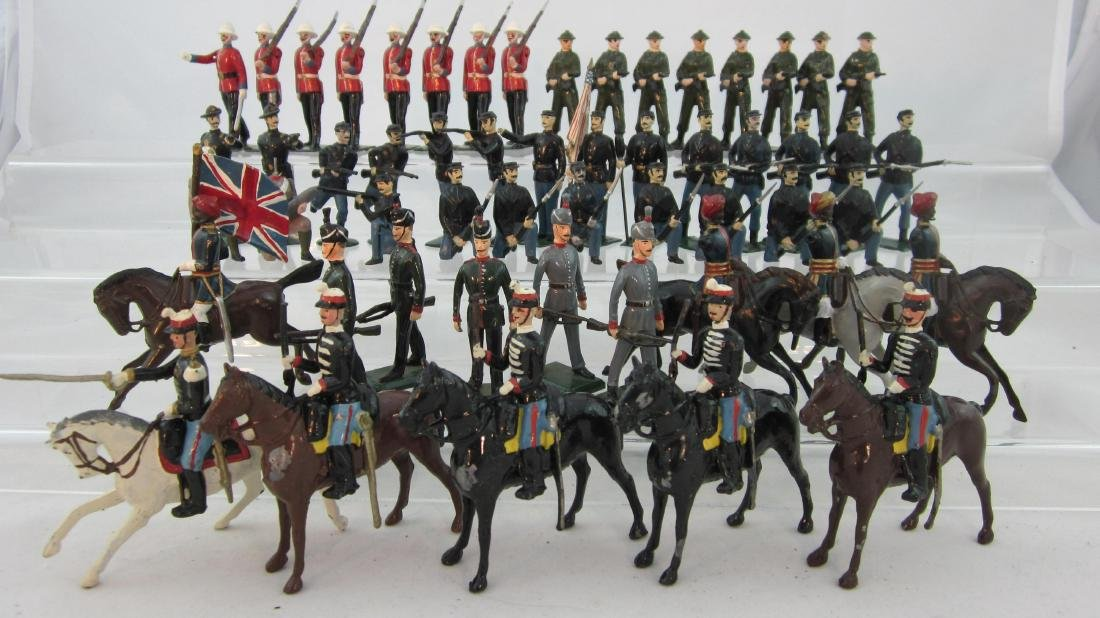 Britains Assorted Infantry & Cavalry with Retouch