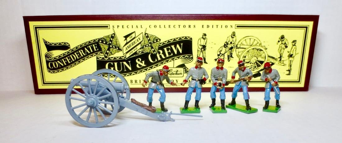 Britains Set #8876 Confederate Gun & Crew
