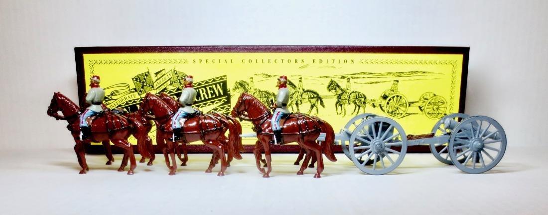 Britains Set #8874 Confederate Gun Limber & Crew