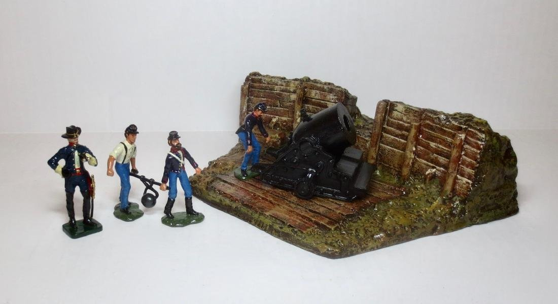 Bussler ACW Union Artillery Redoubt with Mortar