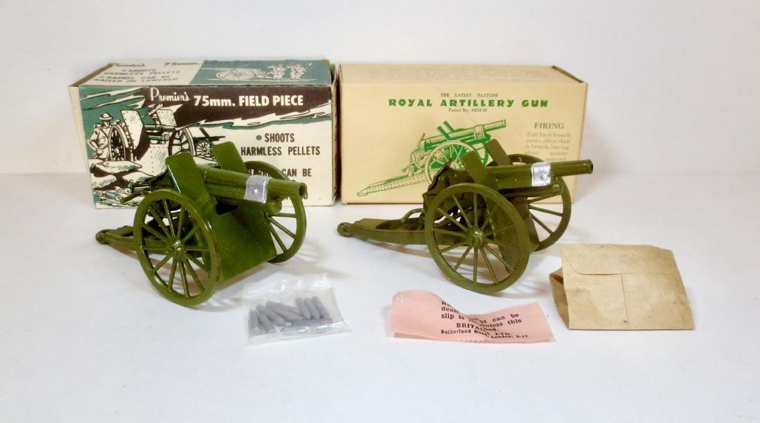 Britains and Premiere's Field Artillery Guns