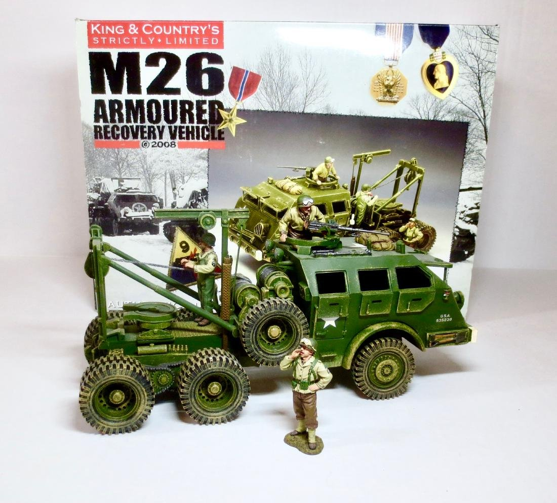 King & Country M26 Armoured Recovery Vehicle Set