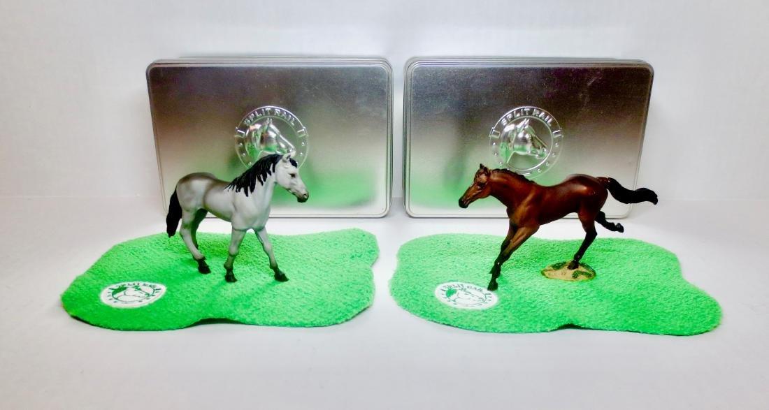 Split Rail Fine Pewter Horses #1051 & #1061
