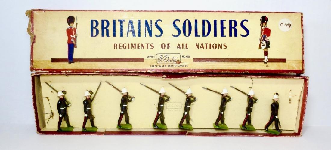 Britains Set #35 Royal Marines Marching at Slope