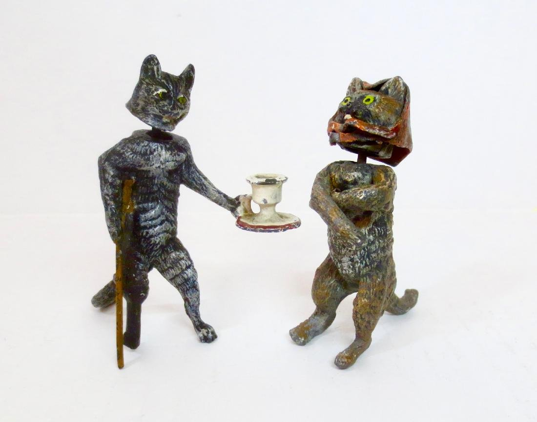 Heyde Nodders Mr. Cat Serving Tea to Angry Mrs.