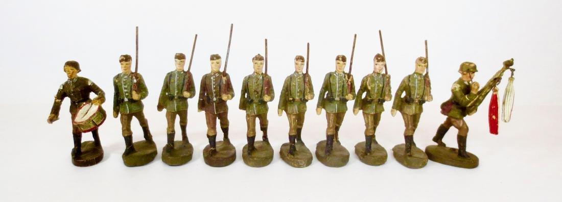 Elastolin Composition WW2 German Infantry