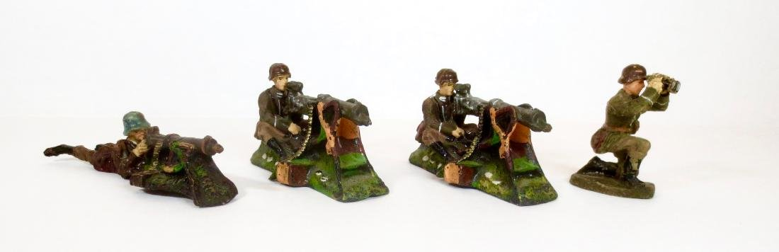 Elastolin Composition WW2 German Machine Gunners