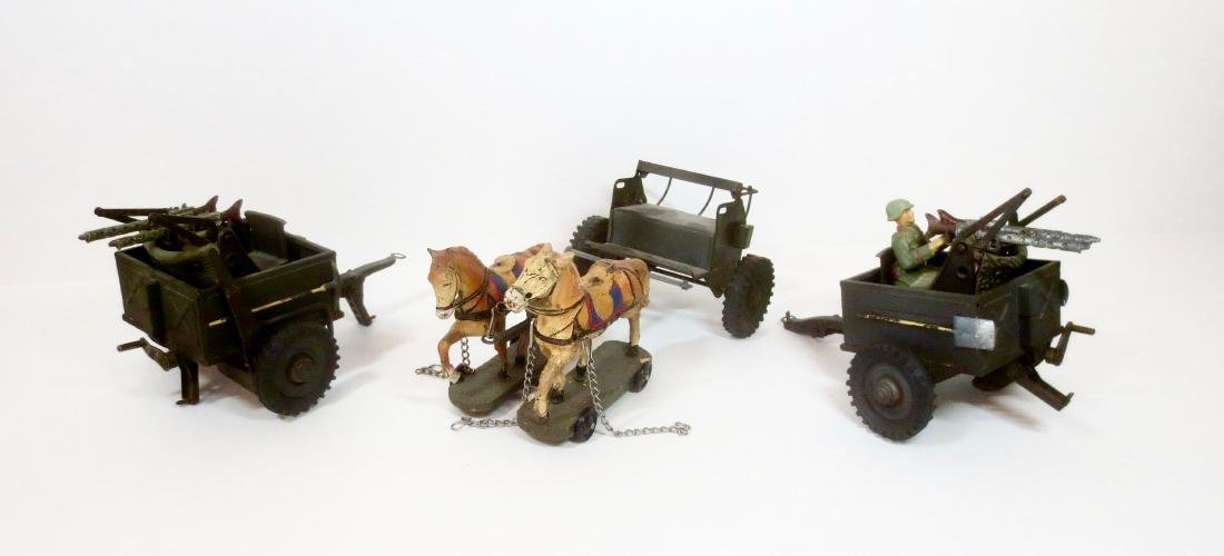 Elastolin WW2 German Caisson & Guns