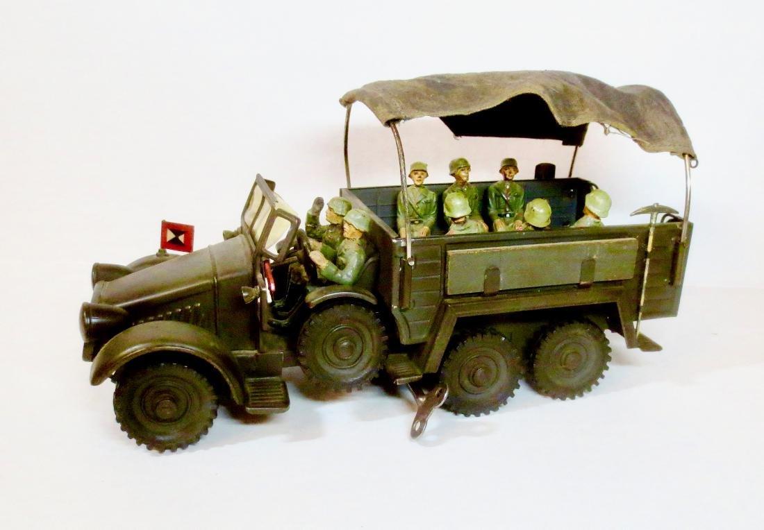 Maker Unknown WW2 Tin Wind-up WW2 Truck