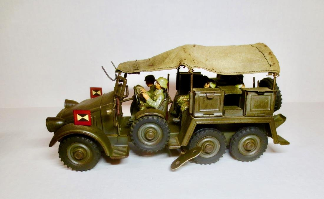 Hauser WW2 German Tin Wind-up Truck