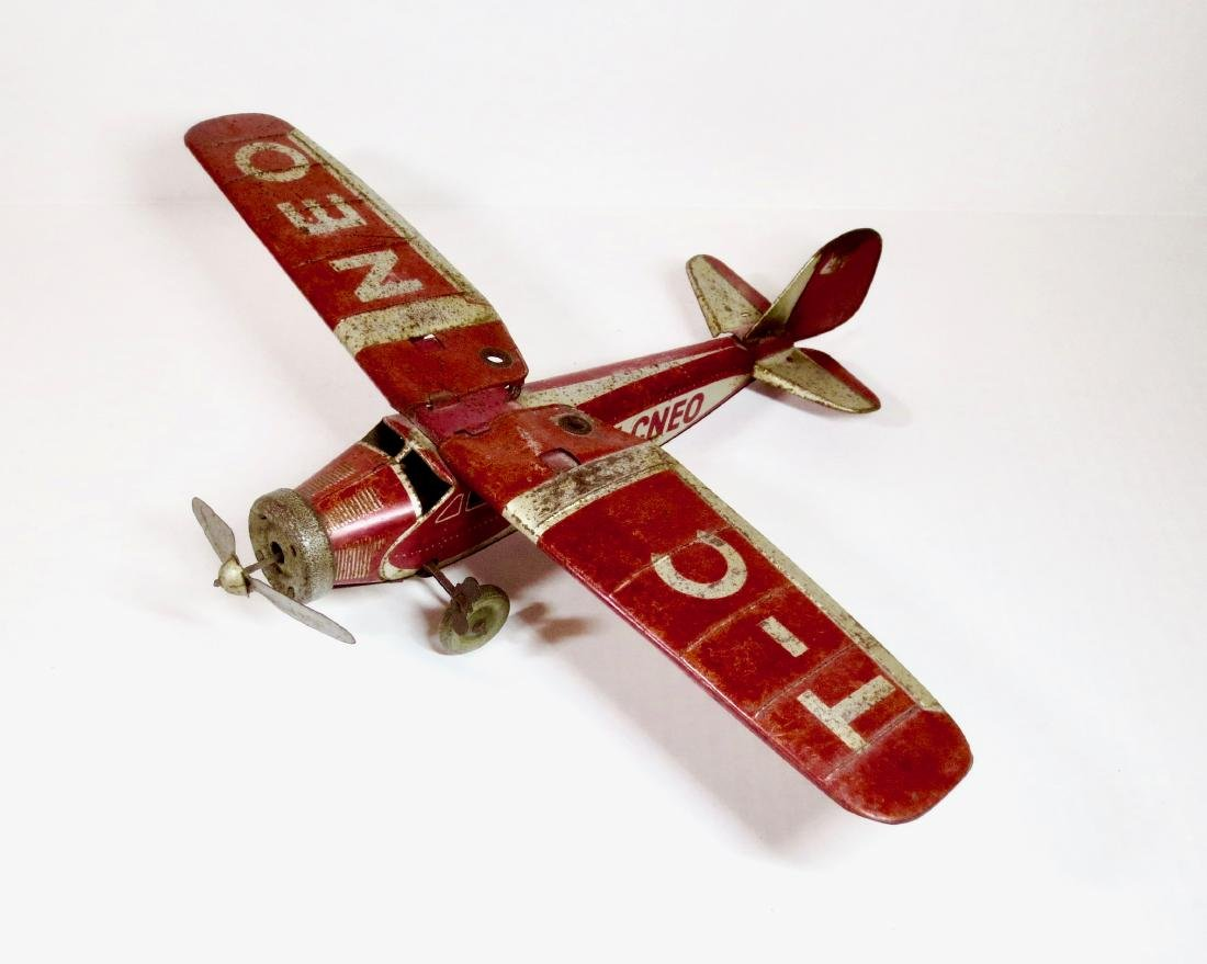 Tippco Tin Wind-up Airplane T-CNEO