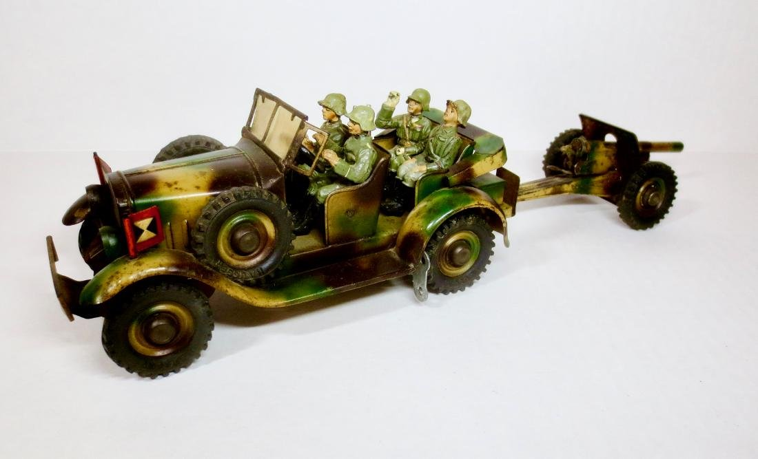 Hauser WW2 Tin Wind-up Field Car