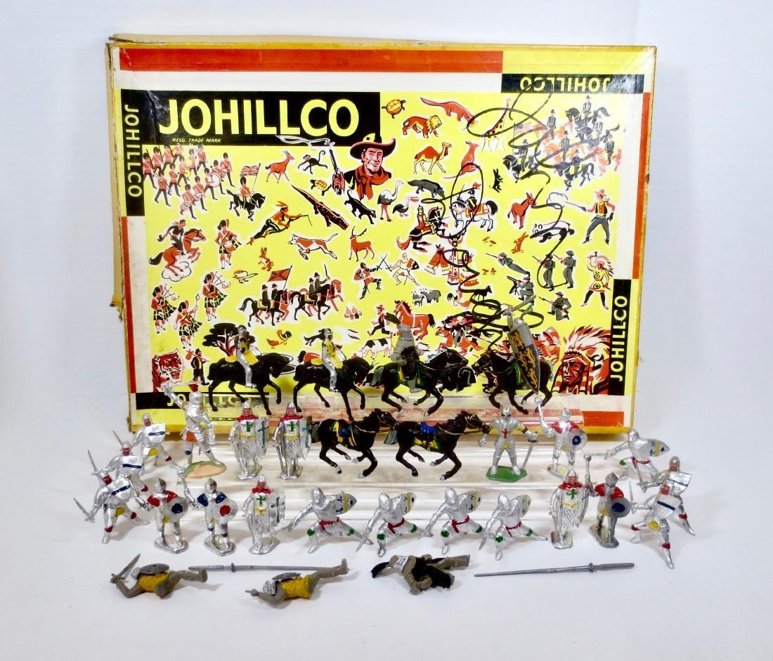 VERY RARE Johillco Plastic Medieval Boxed Set