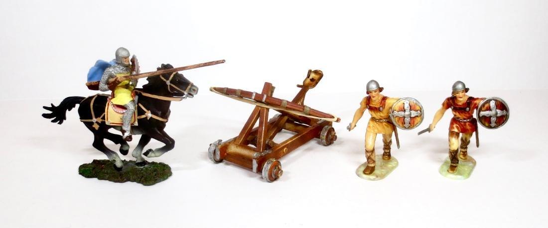 Elastolin Plastic Knights & Catapult