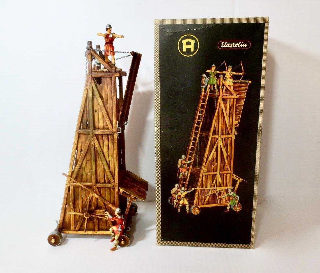 Elastolin Plastic Siege Tower Boxed Set