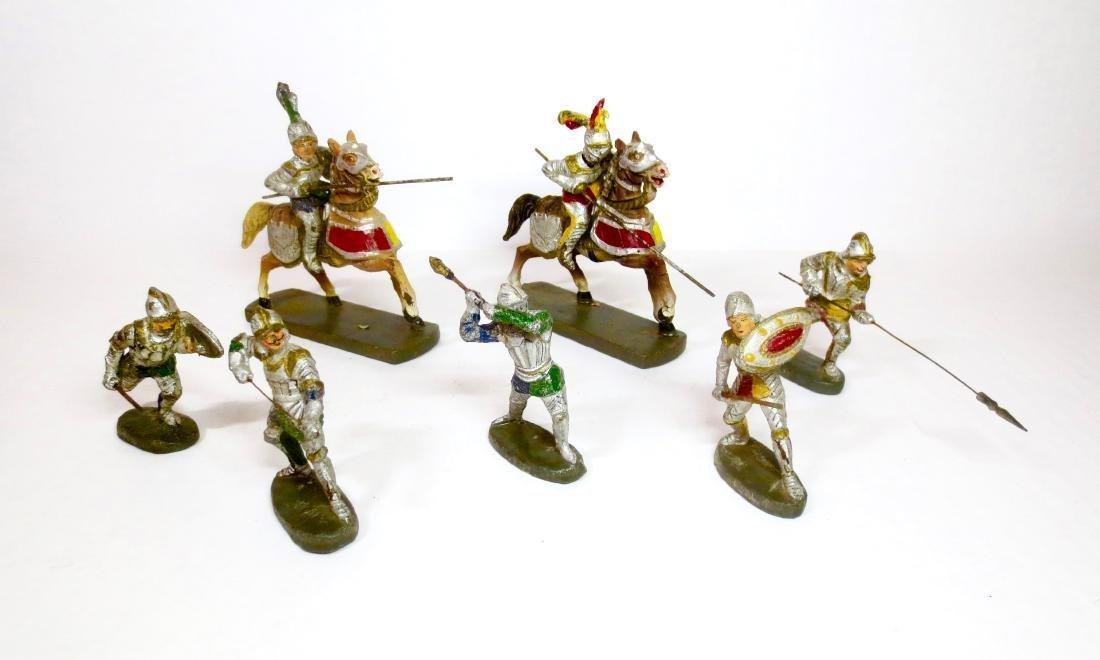 Elastolin Composition Knights