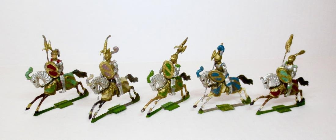Heyde Mounted Knights on Charging Horses