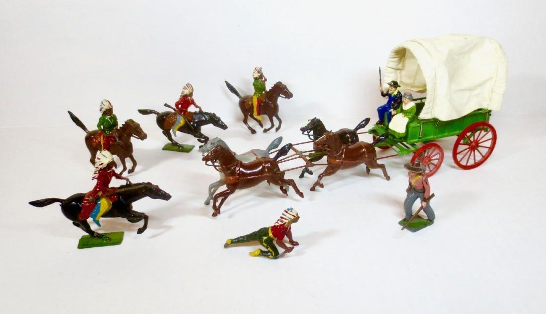 Britains Prairie Schooner Cowboys & Indians
